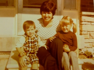 My mom, me in the plaid and my big sister.