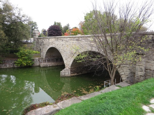 Bridge over Avon River, Stratford, Ontario by Ken Lund